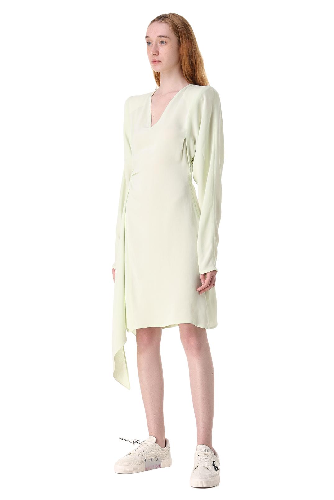 Асимметричное платье с принтом OFF-WHITE OWw11017