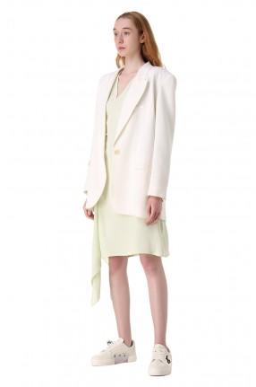 OFF-WHITE Асимметричное платье с принтом
