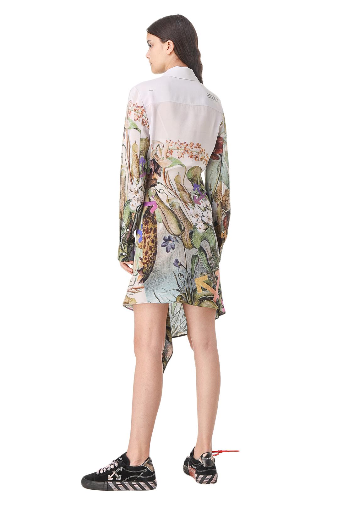 Платье-рубашка с принтом OFF-WHITE OWw11019