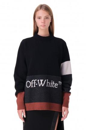 OFF-WHITE Свитер oversize с логотипом