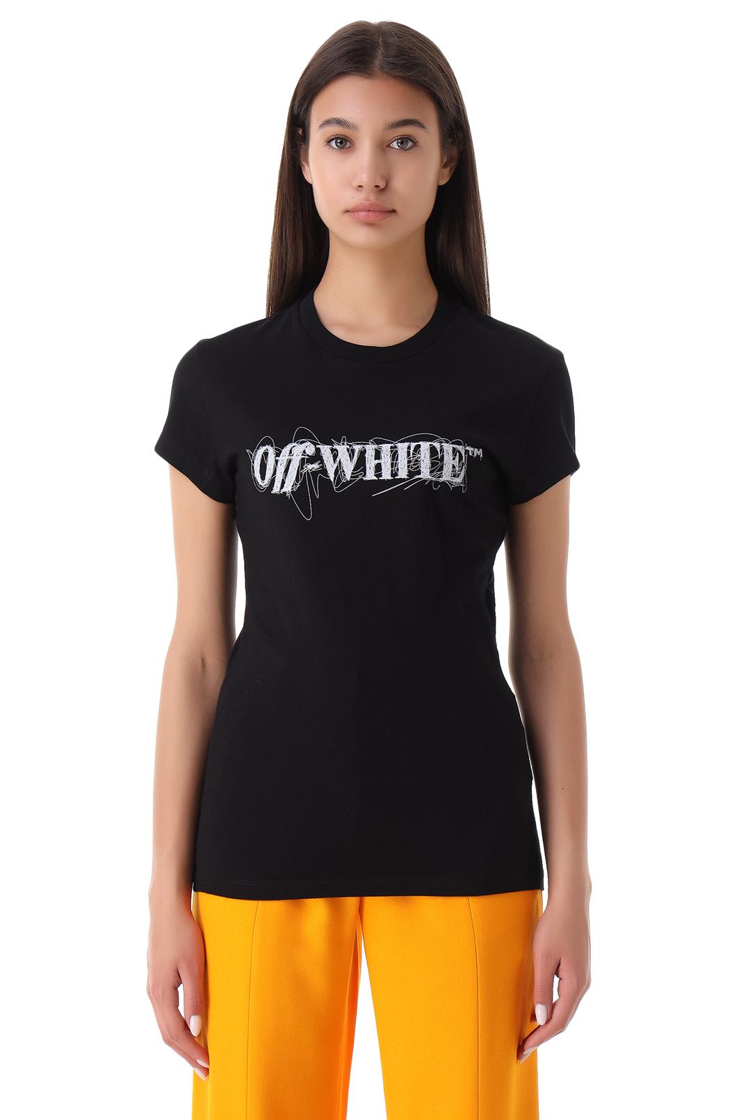 Футболка с логотипом OFF-WHITE OWw21028