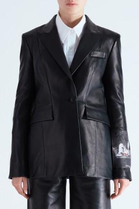 OFF-WHITE Кожаный пиджак