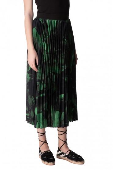 Плиссированная юбка с принтом OFF-WHITE OWwp10020