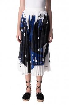 Плиссированная юбка с принтом