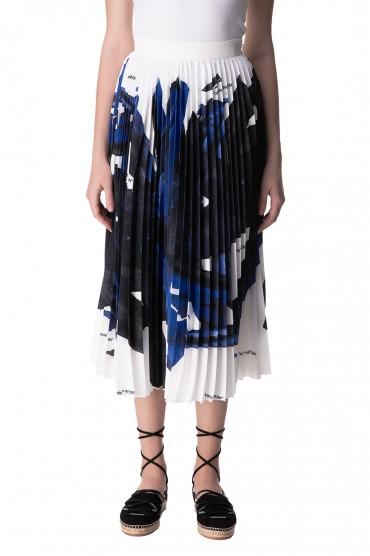 Плиссированная юбка с принтом OFF-WHITE OWwp10021