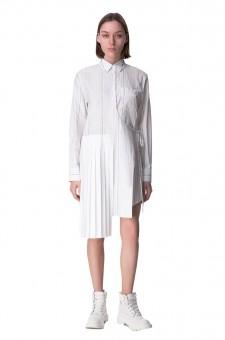 Асимметричное платье-рубашка на запах