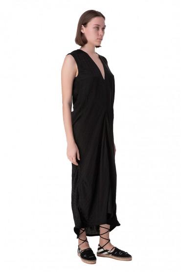 Драпированное платье в логотипах OFF-WHITE OWwp10024