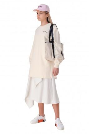 OFF-WHITE Удлиненный свитшот oversize с принтом