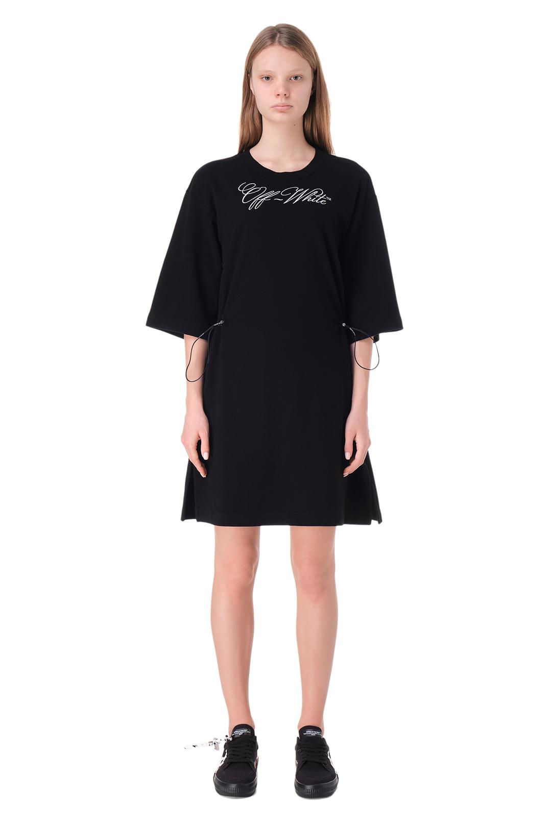 Платье с принтом OFF-WHITE OWwp11018