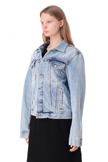 Джинсовая куртка с логотипом OFF-WHITE OWwp11041