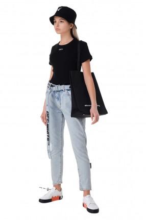 OFF-WHITE Укороченные джинсы со съемным поясом