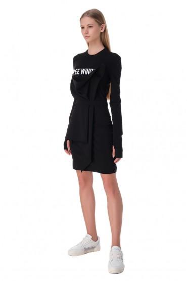 Платье с принтом OFF-WHITE OWwp20022
