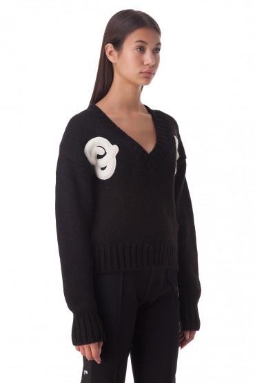Укороченный свитер с нашивками OFF-WHITE OWwp20029