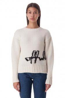 Укороченный свитер с логотипом
