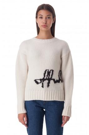 OFF-WHITE Укороченный свитер с логотипом