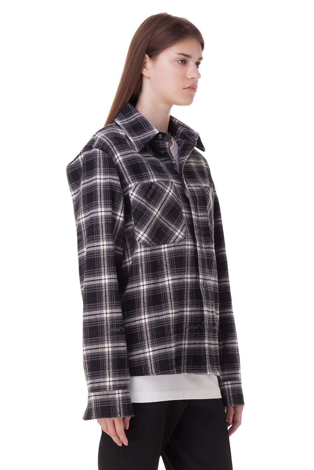 Рубашка oversize в клетку OFF-WHITE OWwp20044