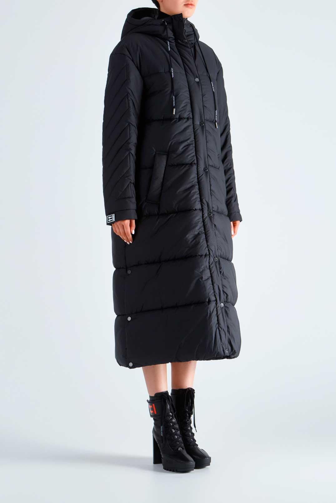 Удлиненная стеганая куртка с капюшоном OFF-WHITE OWwp29017