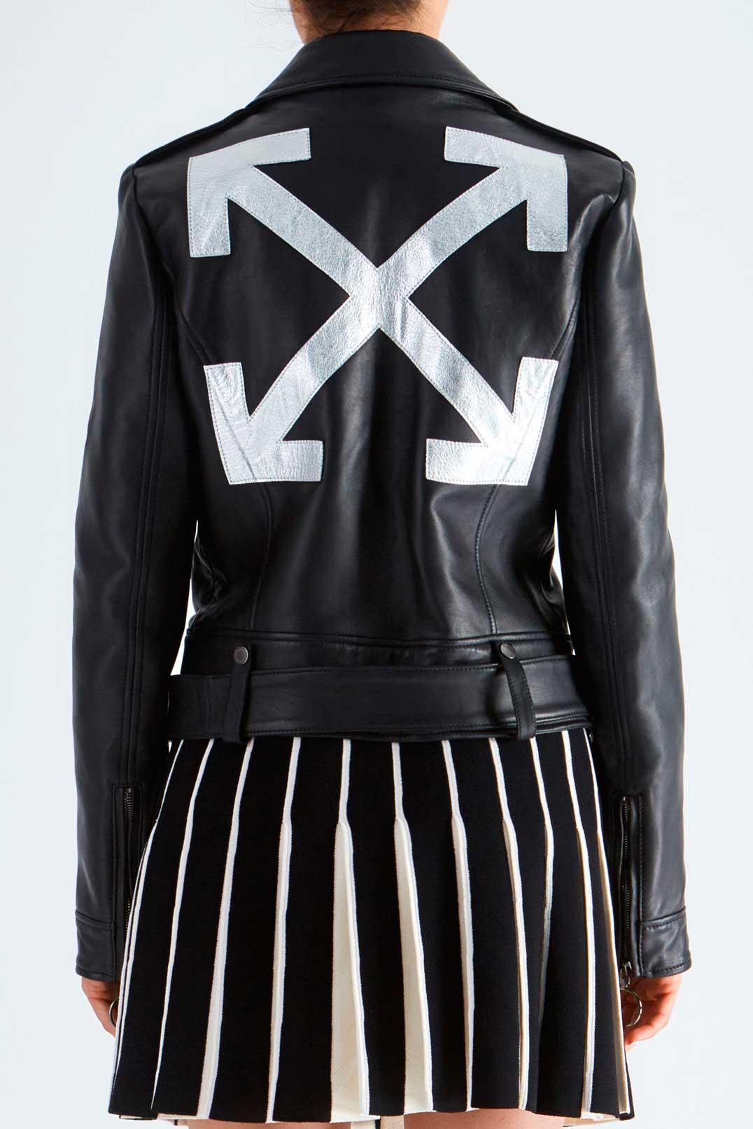 Кожаная куртка косуха OFF-WHITE OWwp29033