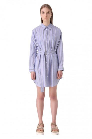 Платье-рубашка в полоску 3.1. PHILLIP LIM PHLw11011
