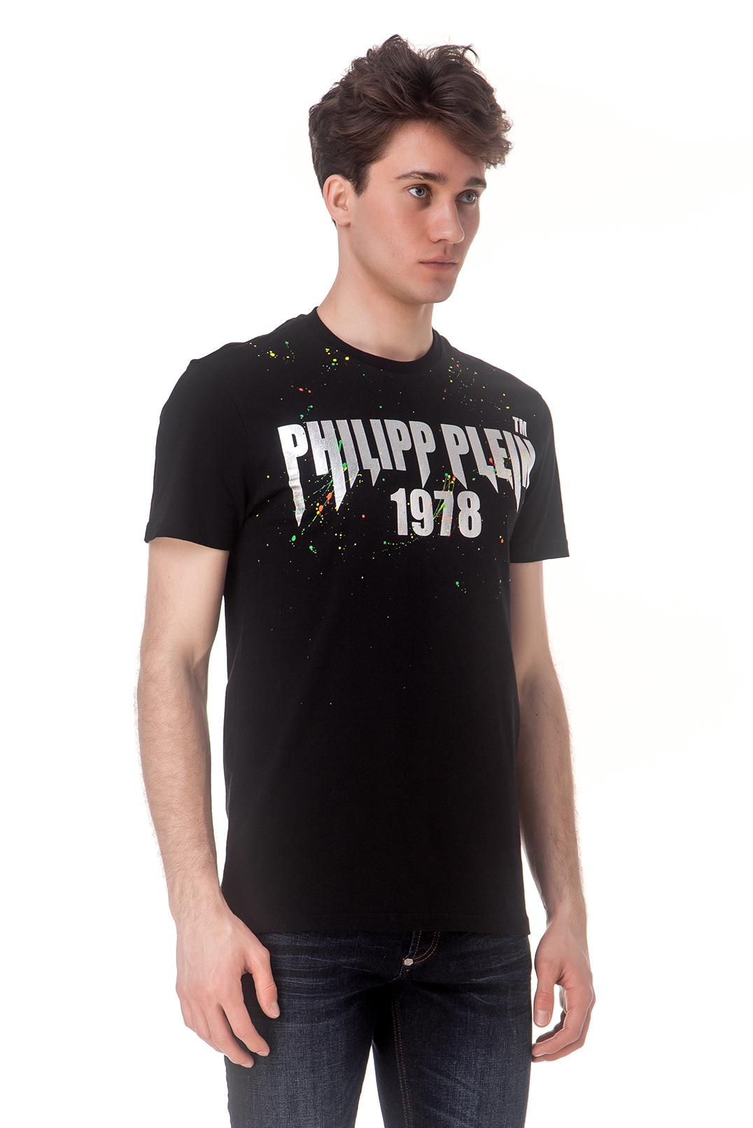 Футболка с принтом и логотипом PHILIPP PLEIN PHPp10003