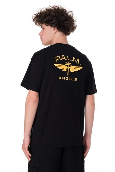 Футболка oversize с логотипом PALM ANGELS PLMm11002