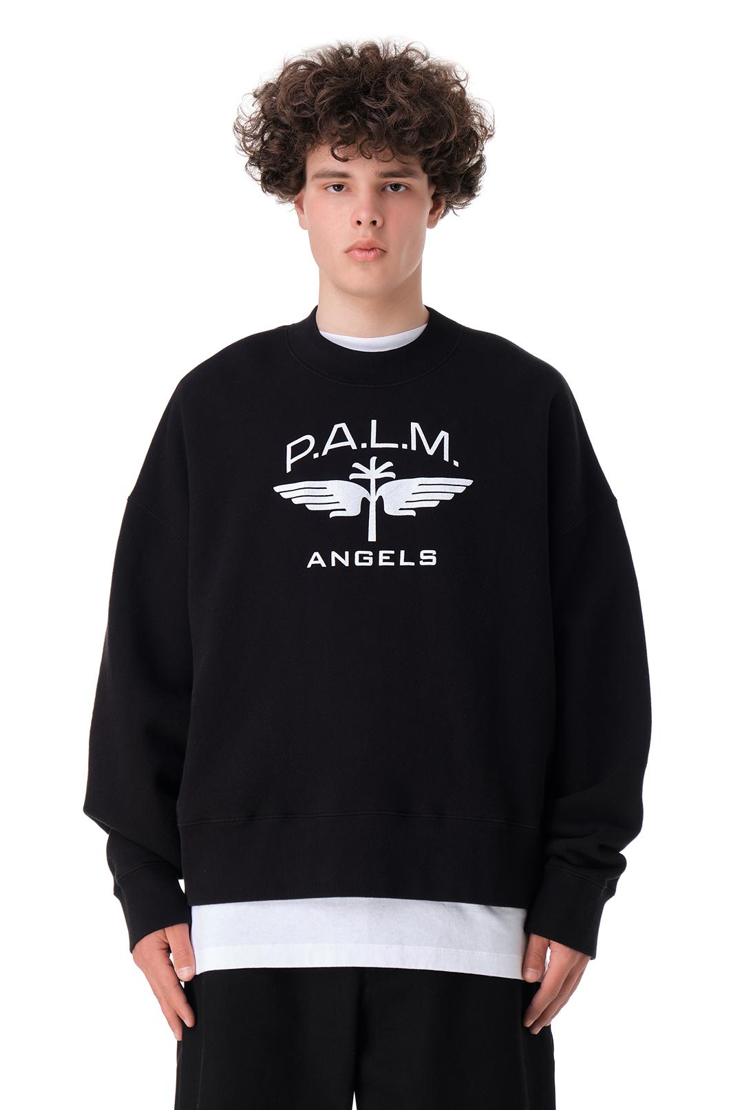 Свитшот oversize c логотипом PALM ANGELS PLMm11003