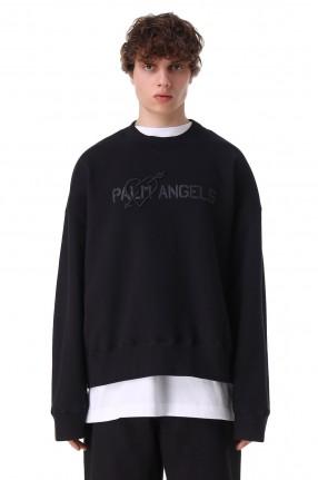 PALM ANGELS Свитшот oversize c логотипом и вышивкой