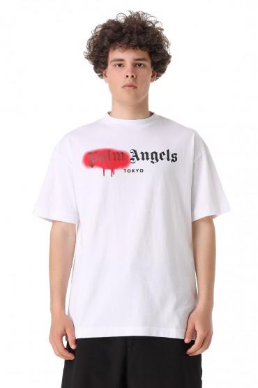 Футболка oversize с логотипом PALM ANGELS PLMm11023