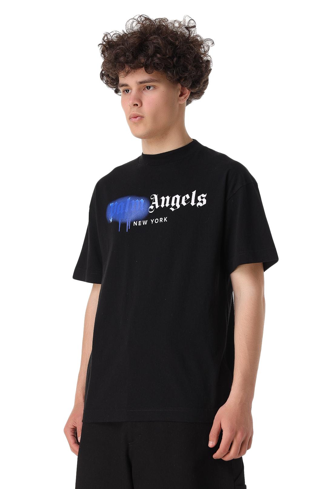 Футболка oversize с логотипом PALM ANGELS PLMm11024