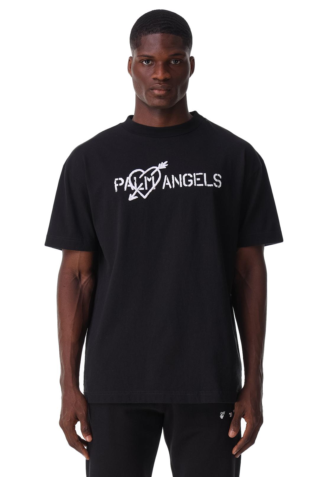 Футболка с логотипом PALM ANGELS PLMm21014