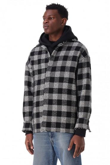 Куртка-рубашка oversize в клетку PALM ANGELS PLMm21035