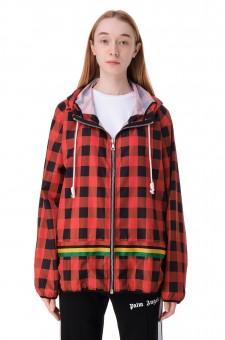 Куртка с капюшоном в клетку