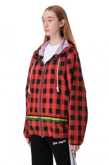 Куртка с капюшоном в клетку PALM ANGELS PLMw11007
