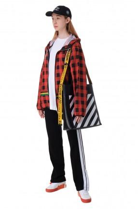 PALM ANGELS Куртка с капюшоном в клетку