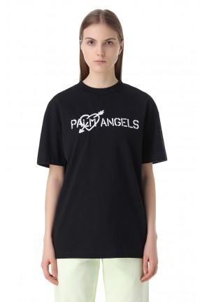 PALM ANGELS Футболка с логотипом и вышивкой