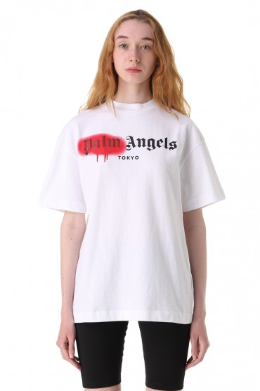 Футболка с логотипом PALM ANGELS PLMw11023