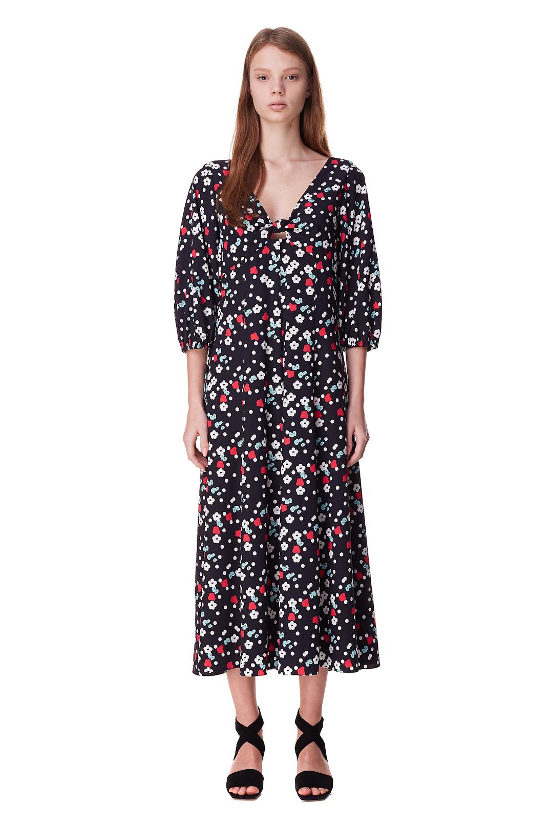 Платье с принтом POUSTOVIT POUS10001