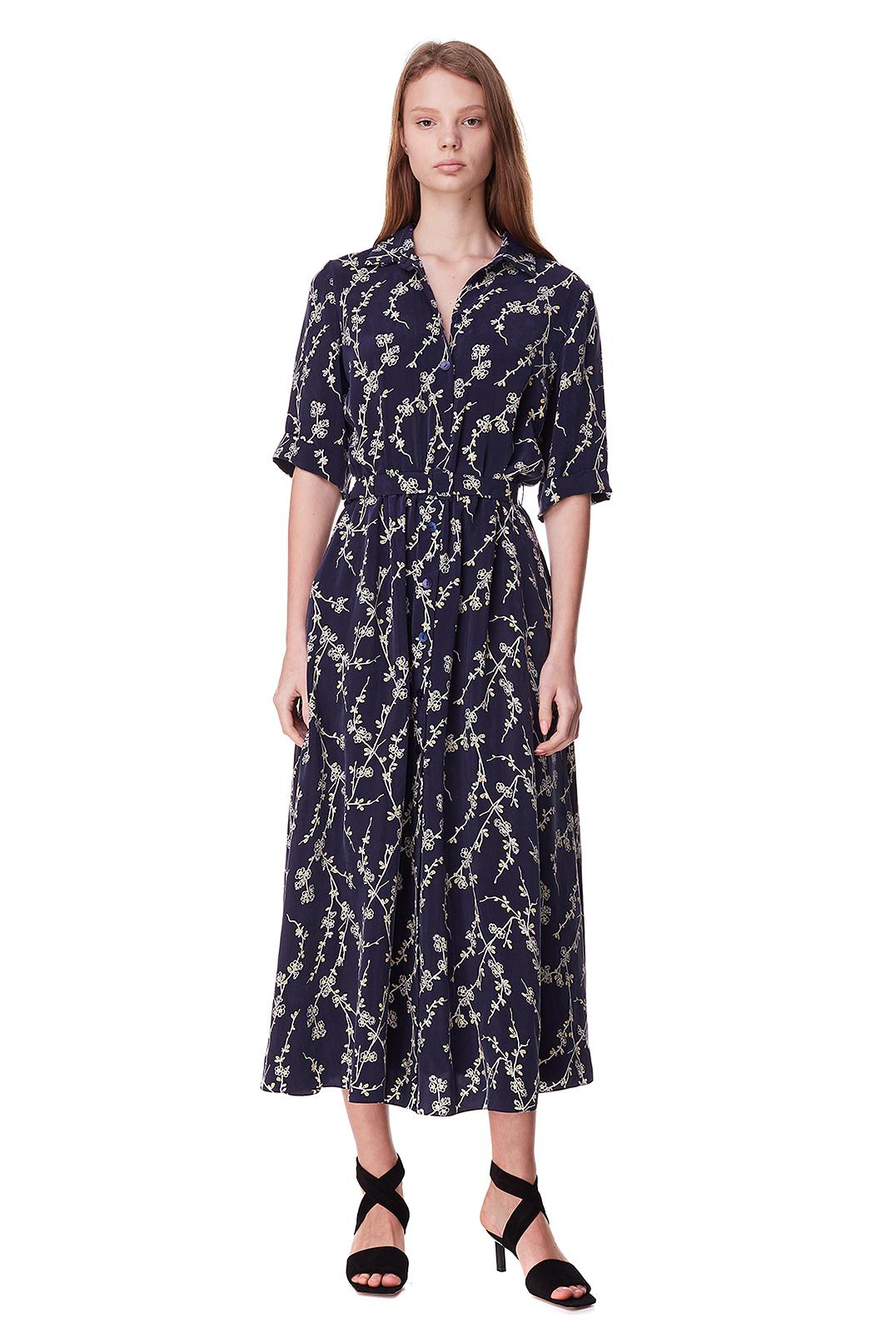 Платье-рубашка с принтом POUSTOVIT POUS10002