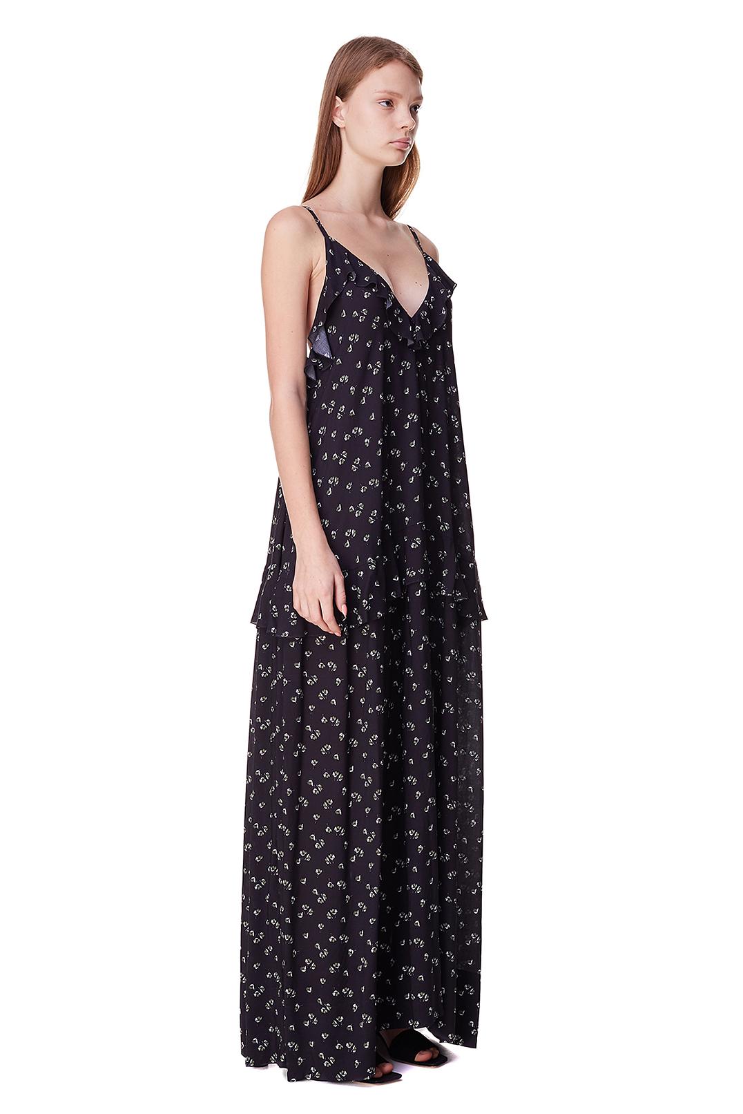 Платье с принтом POUSTOVIT POUS10003