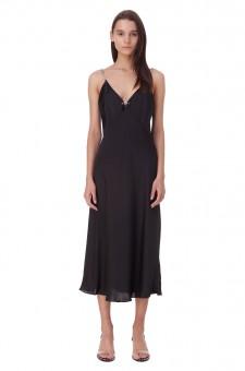 Платье-комбинация на бретелях-цепочках
