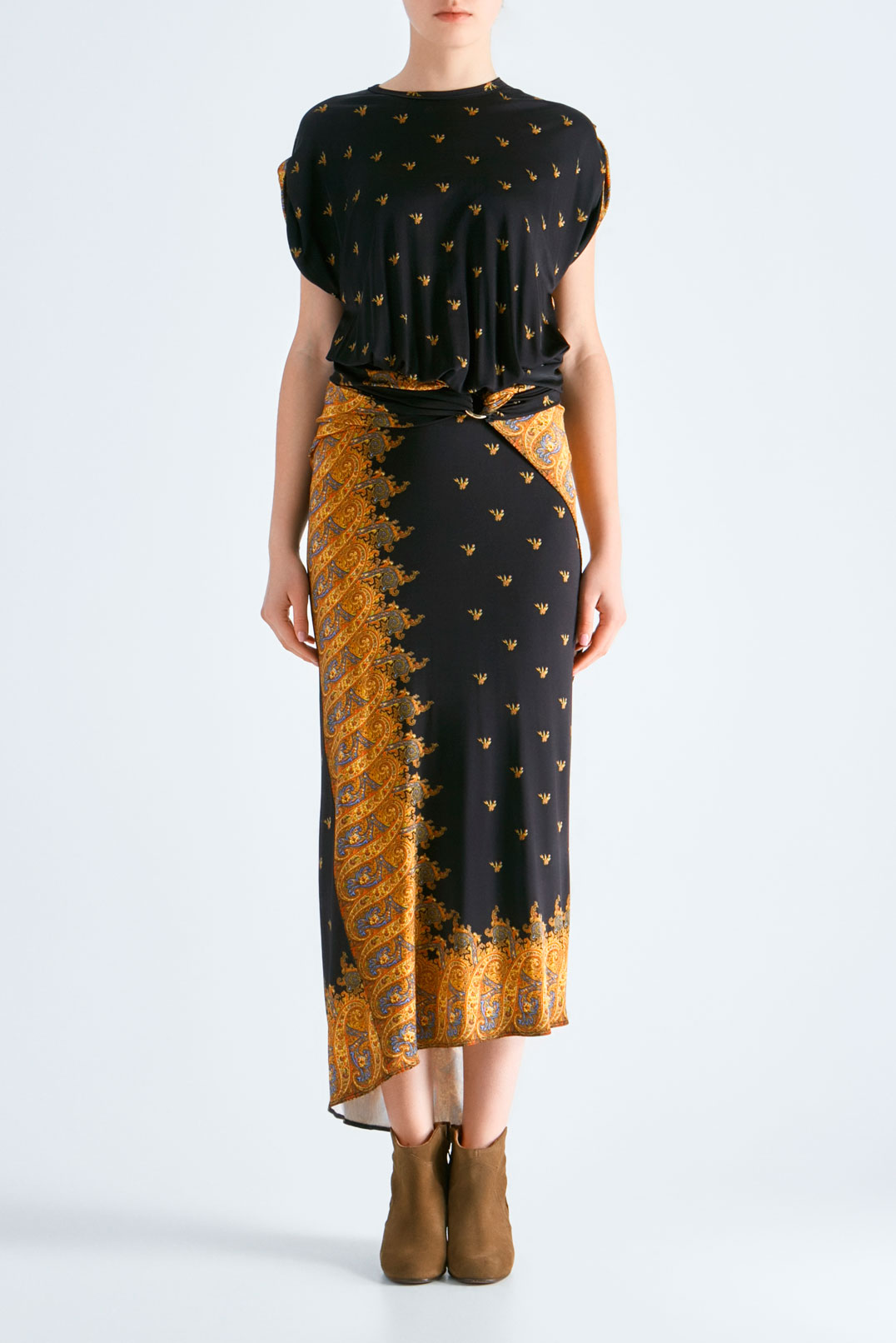 асимметричное платье с принтом PACO RABANNE PRw19005