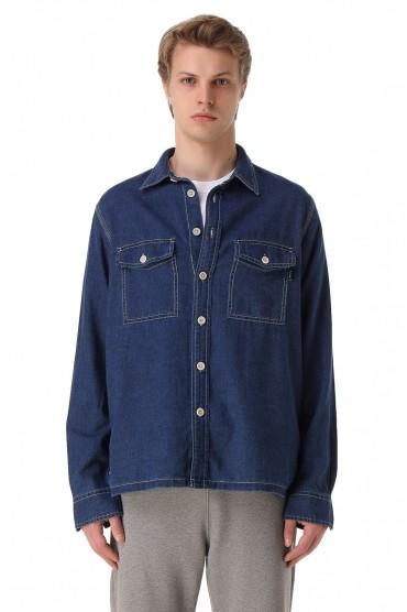 Джинсовая рубашка PAUL SMITH PSm11016