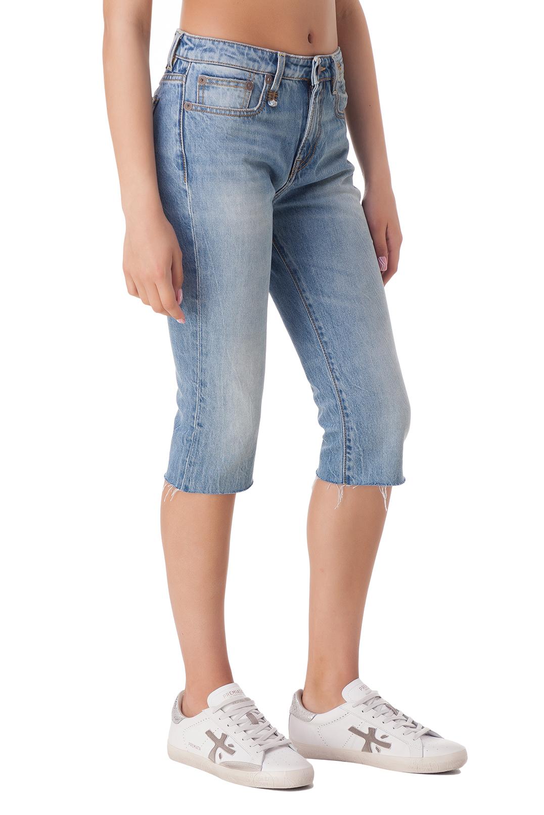 Джинсовые шорты с эффектом потертостей R13 R1310002