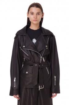Кожаная куртка-косуха oversize