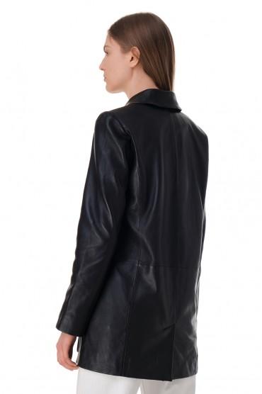 Двубортный кожаный пиджак RAIINE RAIN11008