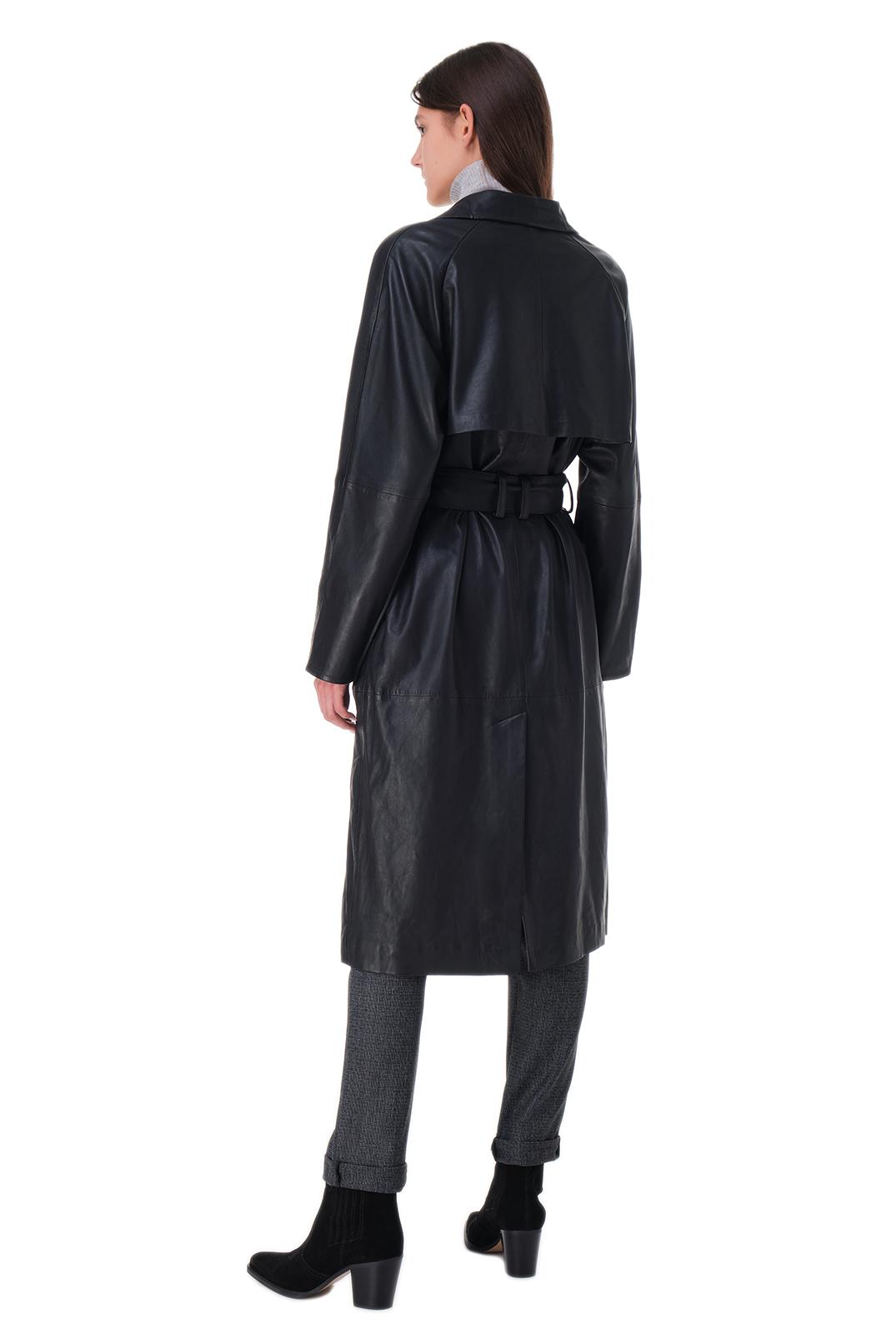 Двубортный кожаный тренч RAIINE RAIN20004