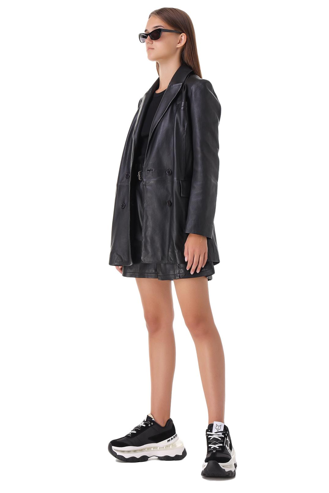 Двубортный кожаный пиджак RAIINE RAIN21003