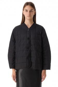 Стеганая куртка с принтом