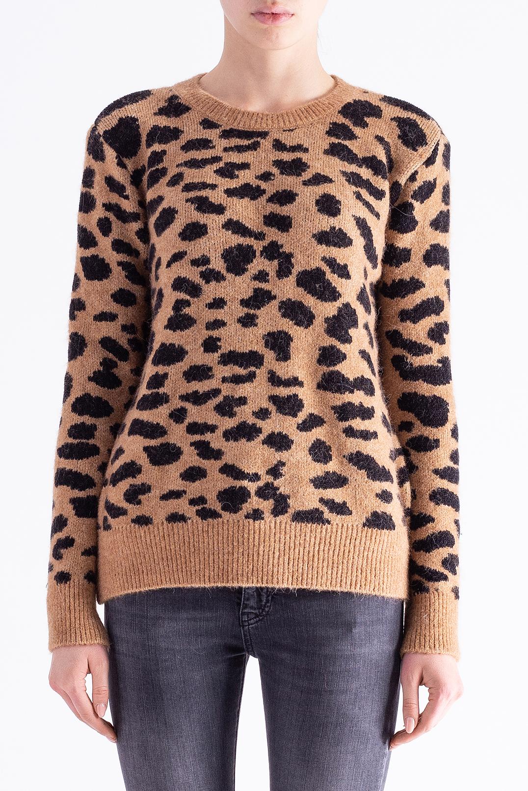 Леопардовый свитер RAIINE RAIN29005
