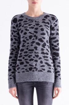 Леопардовый свитер